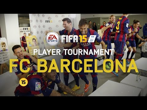 FIFA 15 – FC Barcelona Player Tournament – Messi, Neymar, Alves, Piqué, Alba, Rakitić, Bartra, Munir