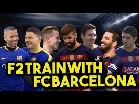 F2 TRAIN WITH FC BARCELONA – MESSI, SUAREZ, PIQUE, TURAN & TER STEGEN! Learn the Barça Way with Beko