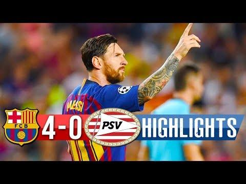 Barcelona Vs PSV Eindhoven 4-0 – All Goals & Highlights – Resumen y Goles – 18/09/2018 HD