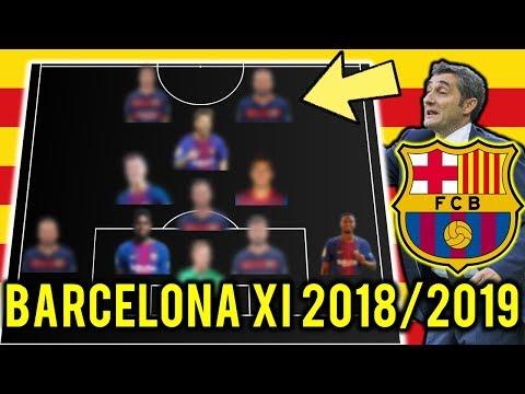 FC Barcelona Possible Line Up XI 2018/2019 Ft Messi, Thiago, Lenglet