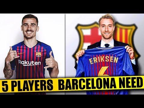 BARCELONA Transfer News | 5 Players BARCELONA Need To Regain DOMINANCE Ft. Griezmann Eriksen Dybala