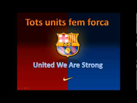 Football Club Barcelona Song with subtitles and English translation