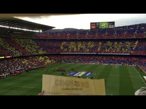 FC Barcelona chants- La Liga champions 2014/15 – campions campions – ole ola