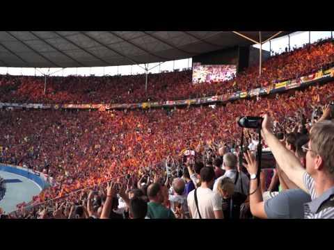 UEFA Champions League 2014/2015 Final – Olympiastadion – Berlin. FC Barcelona anthem.