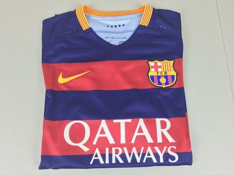 2015/2016 Authentic FC Barcelona Home Jersey – Unboxing and Review (4K)