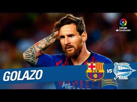 Golazo de Messi (1-0) FC Barcelona vs Deportivo Alavés
