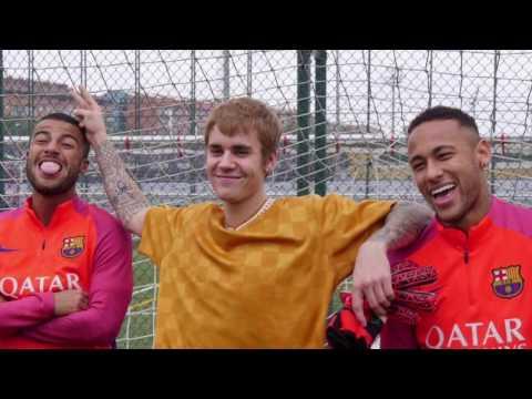 Justin Bieber x FC Barcelona ( Messi, Neymar, Suarez)