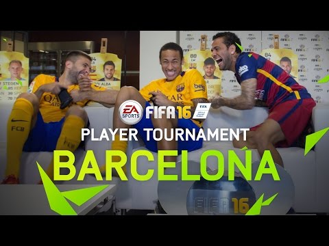 FIFA 16 – FC Barcelona Player Tournament – Neymar, Alves, Alba, Turan, Ter Stegen, Bravo
