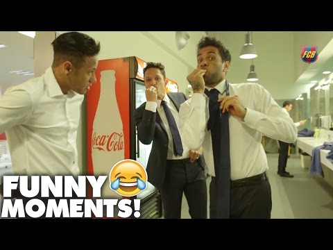 FC Barcelona | TOP 10 Funny Moments! | 2015/2016 | ft.Messi,Neymar,Suarez,Dani Alves | HD