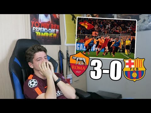 REACCIONANDO al ROMA 3-0 FC BARCELONA Champions League