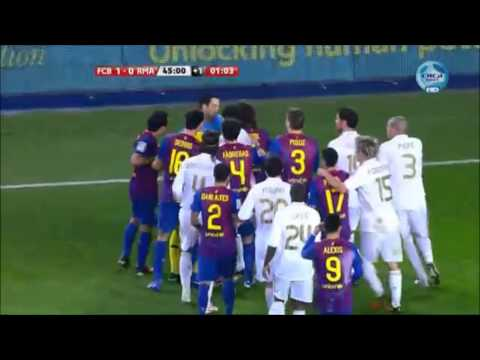 El Clasico –  Real Madrid vs. Barcelona // Most Heated Moments { Fights, Brawls, Fouls }