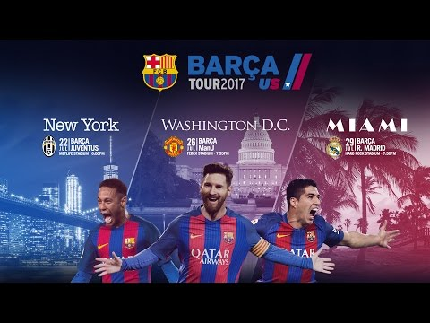 FC Barcelona head back to the USA in the summer of 2017