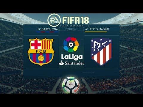 FIFA 18 Barcelona vs Atlético Madrid | La Liga 2017/18 | PS4 Full Match