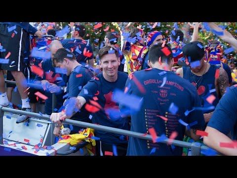 FC Barcelona – La Liga Champions Parade 2016 (full version)