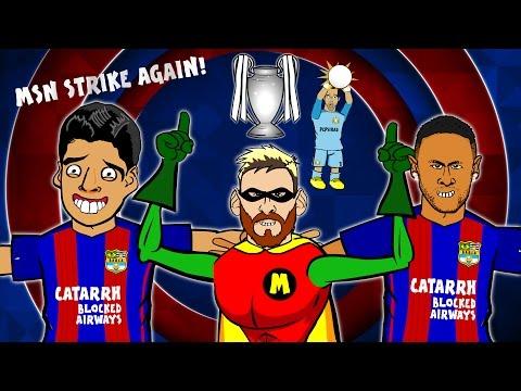 MSN STRIKE AGAIN! Song – Barcelona vs Man City (4-0  Highlights, Goals, Messi Hattrick)