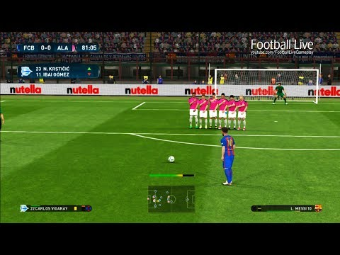 PES 2017 | FINAL | Barcelona vs Alaves | L.Messi Free Kick Goal & Full Match | Gameplay PC