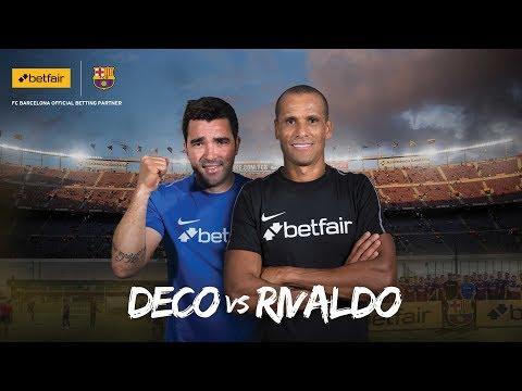 Rivaldo vs Deco | Legends surprise fans at Barcelona training ground