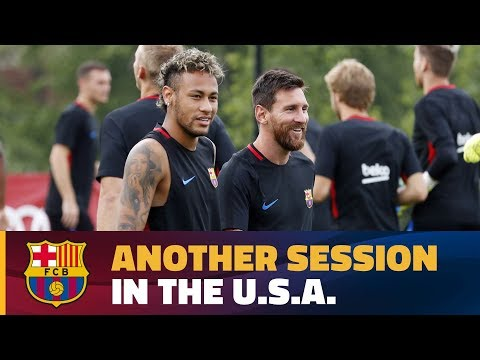 Barça complete first two-a-day at the Red Bull Training Facility