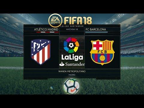 FIFA 18 Atlético Madrid vs Barcelona | La Liga 2017/18 | PS4 Full Match