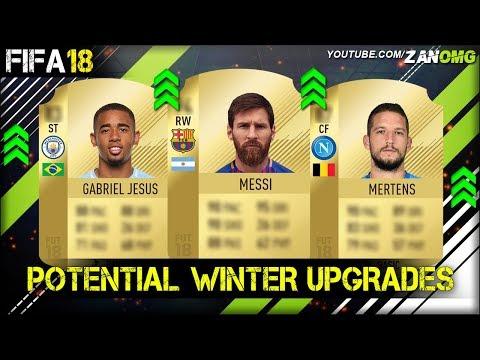 FIFA 18   POTENTIAL WINTER UPGRADES PREDICTION!!   FT. MESSI, GABRIEL JESUS, MERTENS…etc