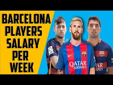 Barcelona player salaries per week 2017 || Ft  messi,neymar,Suarez etc .