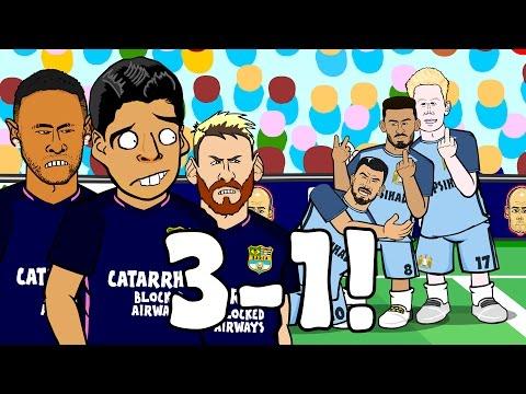 MAN CITY vs BARCELONA 3-1: The Blue Moon Song! (Parody Goals Highlights UCL 16/17)