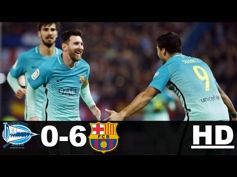 Barcelona vs Alaves 6-0 – All Goals & Extended Highlights – La Liga 11/02/2017 HD