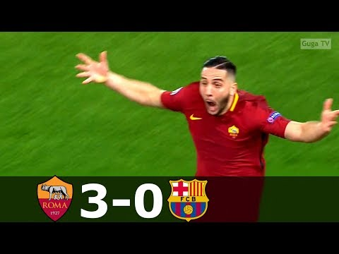 Roma vs Barcelona 3-0 – UCL 2017/2018 – Highlights (English Commentary) HD