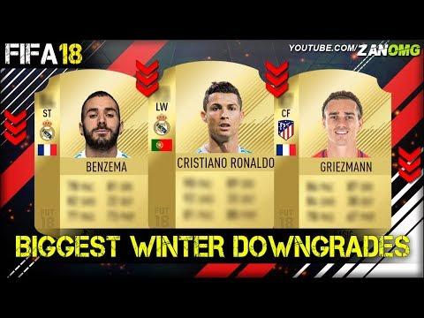 FIFA 18 | BIGGEST WINTER DOWNGRADES PREDICTION!! | FT. RONALDO, GRIEZMANN, BENZEMA…etc