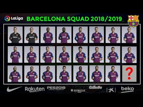 BARCELONA SQUAD NEXT SEASON 2018/2019