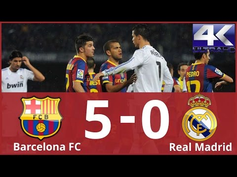Barcelona vs Real Madrid 5-0 Highlights & Goals (Liga BBVA) 29/11/2010 (4K ULTRA HD)
