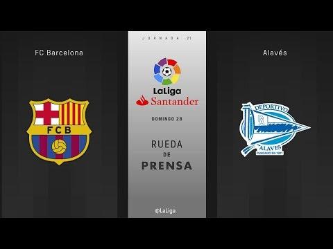 Rueda de prensa FC Barcelona vs Alavés
