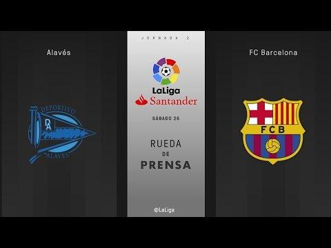 Rueda de prensa Alavés vs FC Barcelona
