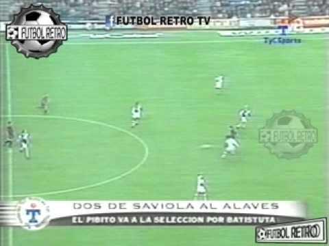 Javier Saviola Gol en Barcelona vs Alaves 2002 FUTBOL RETRO TV