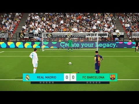 REAL MADRID vs FC BARCELONA | Penalty Shootout | PES 2018 Gameplay PC