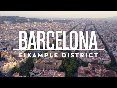 Barcelona – Eixample District | 4K Drone