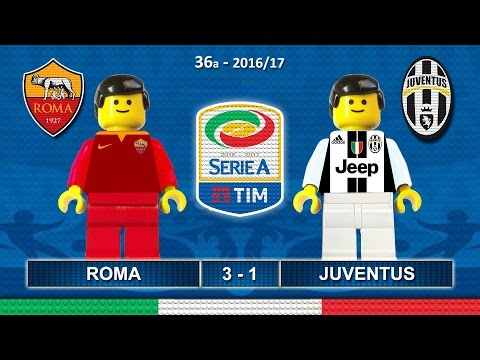 Roma Juventus 3-1 • Serie A 2017 (14/05/2017) Highlights Lego Calcio • Sintesi Juve