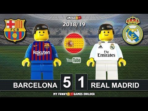 Barcelona vs Real Madrid 5-1 • El Clasico • LaLiga 2019 (28/10/2018) Goals ElClasico Lego Football