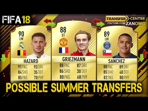 FIFA 18 | TOP 10 POSSIBLE SUMMER TRANSFERS PREDICTION | FT. HAZARD, GRIEZMANN, ALEXIS SANCHEZ…etc