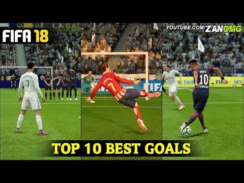 FIFA 18 | TOP 10 BEST GOALS | FT. RABONA, BICYCLE KICK, SCORPION GOALS & MORE!!! #1
