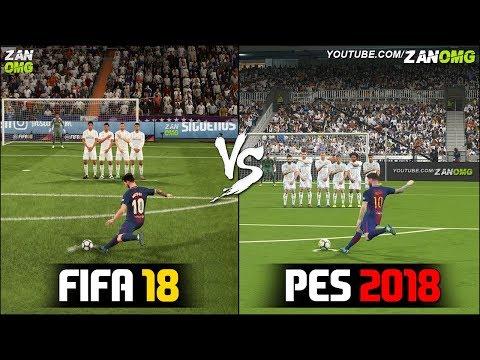 FIFA 18 vs PES 2018 | Free Kicks Comparison