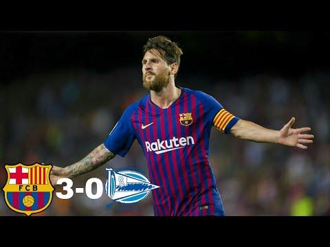 Barcelona vs Deportivo Alaves 3-0 | GOLAZO MESSI | RESUMEN & HIGHLIGHTS & GOLES | 18/08/2018