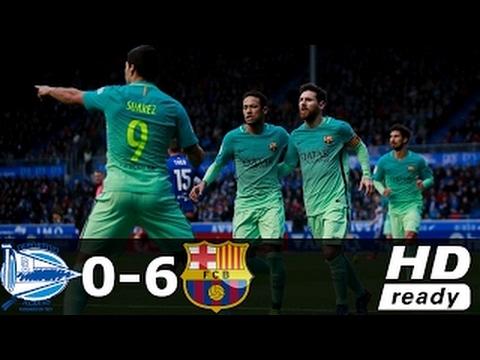 FC Barcelona vs Alaves 6-0 – All Goals & Extended Highlights – La Liga 11/02/2017 HD