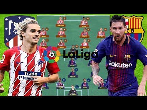 ATLETICO MADRID vs BARCELONA Lineup Squad & Prediction 24-Nov-2018 | ROUND 13 LA LIGA