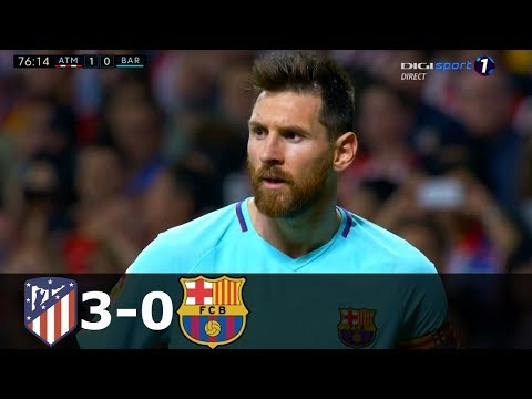 Atletico Madrid vs FC Barcelona 3-0 Goals and Highlights with English Commentary (La Liga) 2018-19