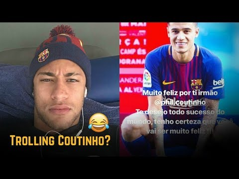 Neymar Reaction To Coutinho's Barcelona Transfer