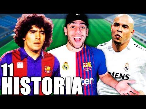 EPIC PLANTILLA MADRID & BARÇA DE LA HISTORIA !!! FIFA 18