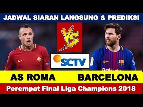 Jadwal Siaran Langsung AS ROMA vs BARCELONA, Perempat Final Liga Champions 2018