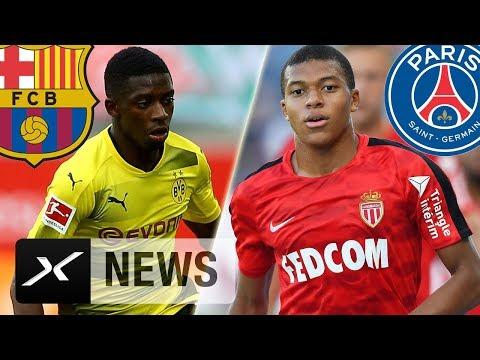 Ousmane Dembele zum FC  Barcelona und Kylian Mbappe einig mit Paris Saint-Germain? | Transfer-News