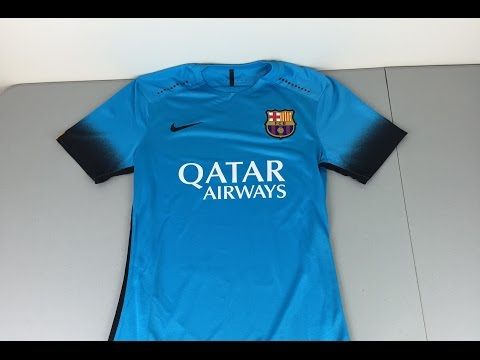 """2015/2016 Authentic FC Barcelona Third Jersey """"Night Rising"""" Review [4K]"""